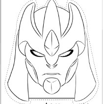 Gormiti Maschera Lord Keryon da colorare - Maschere da colorare