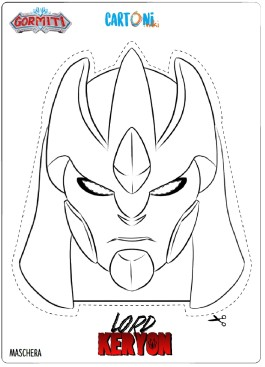 Gormiti Maschera Lord Keryon da colorare