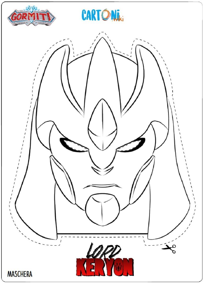 Gormiti Maschera Lord Keryon da colorare - Cartoni animati