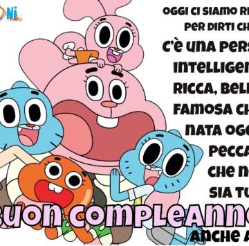 Buon compleanno divertente con Gumball - Cartoni animati
