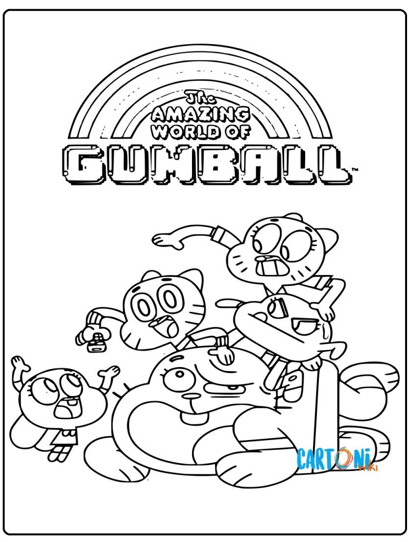 Gumball disegni da colorare - Cartoni animati