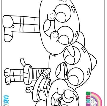 Disegni Gumball da colorare - Cartoni animati