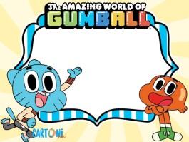Gumball inviti feste di compleanno