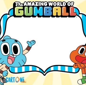 Gumball inviti feste di compleanno - Cartoni animati