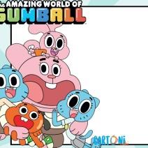 Invito festa compleanno Gumball - Inviti compleanno bambini