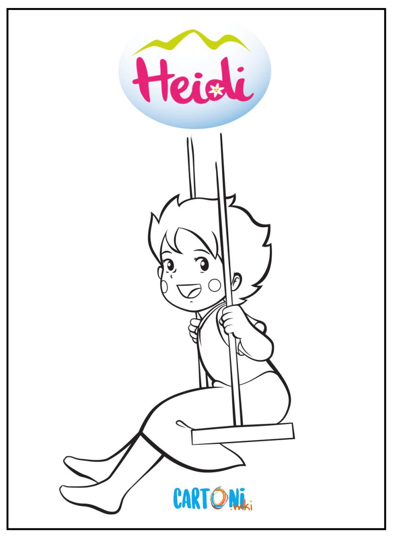 Heidi disegni da colorare - Cartoni animati