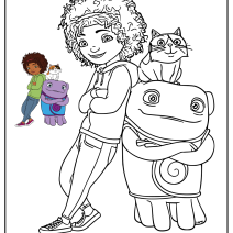 Disegni da colorare di Home a casa - Disegni da colorare