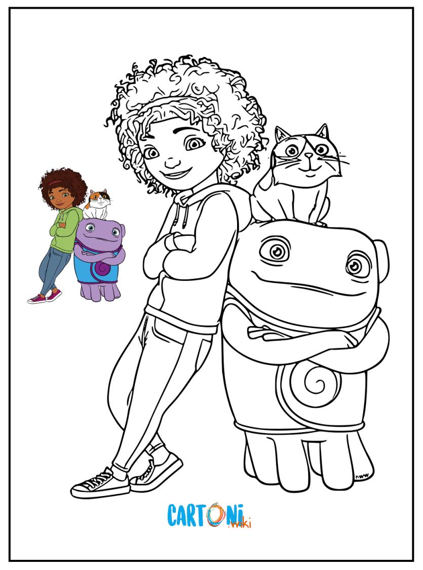Disegni da colorare di Home a casa - Cartoni animati