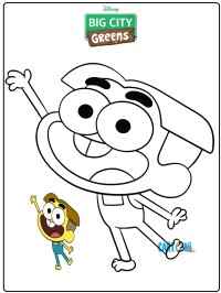 Cricket big city greens coloring pages - Disegni da colorare