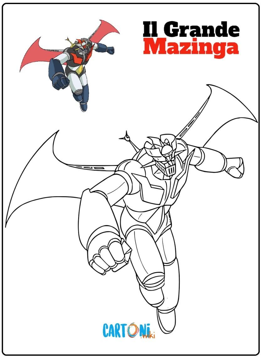 Il grande Mazinga disegni da colorare - Cartoni animati