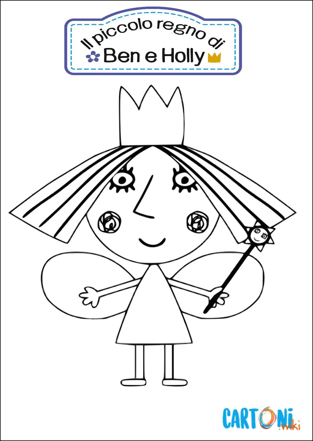 Colora La Principessa Holly Cartoni Animati