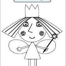 Colora la Principessa Holly - Disegni da colorare
