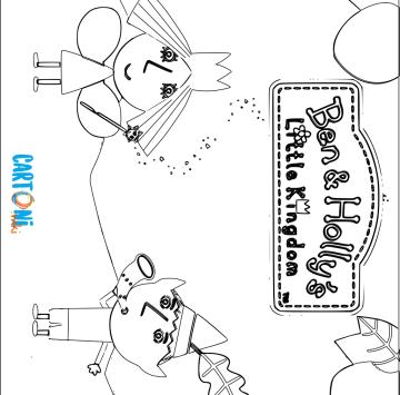 Il piccolo regno di Ben e Holly da colorare - Cartoni animati