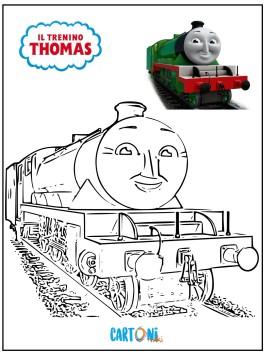 Disegni da colorare Il trenino Thomas