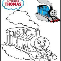 Disegno Il trenino Thomas da stampare - Stampa e colora