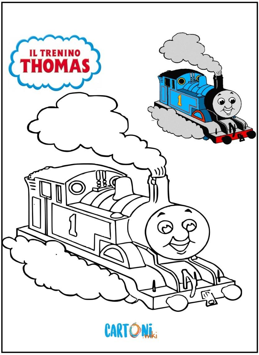 Disegno il trenino thomas da stampare for Stampa disegni da colorare