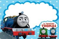 il trenino Thomas inviti feste compleanno bambini - Inviti feste compleanno