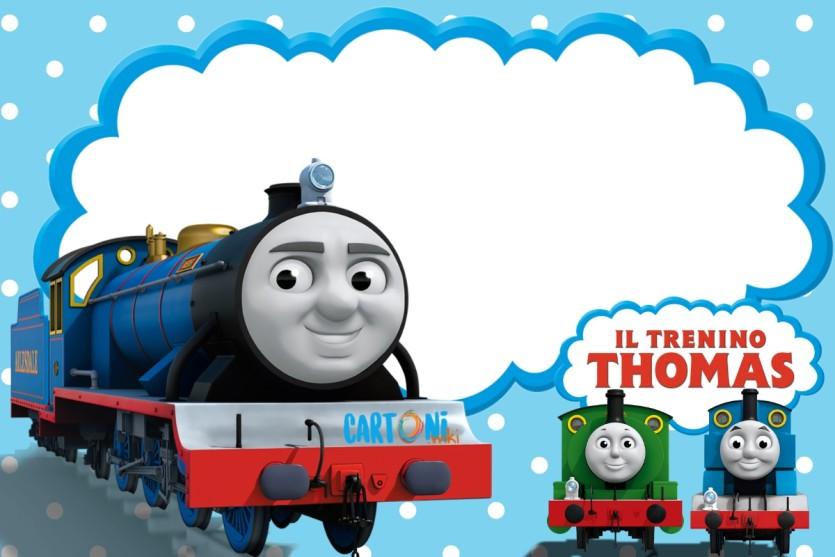 il trenino Thomas inviti feste compleanno bambini - Cartoni animati