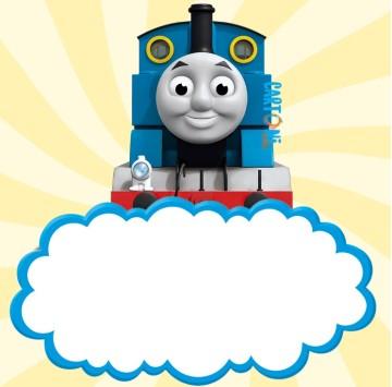 Inviti compleanno il trenino Thomas - Cartoni animati