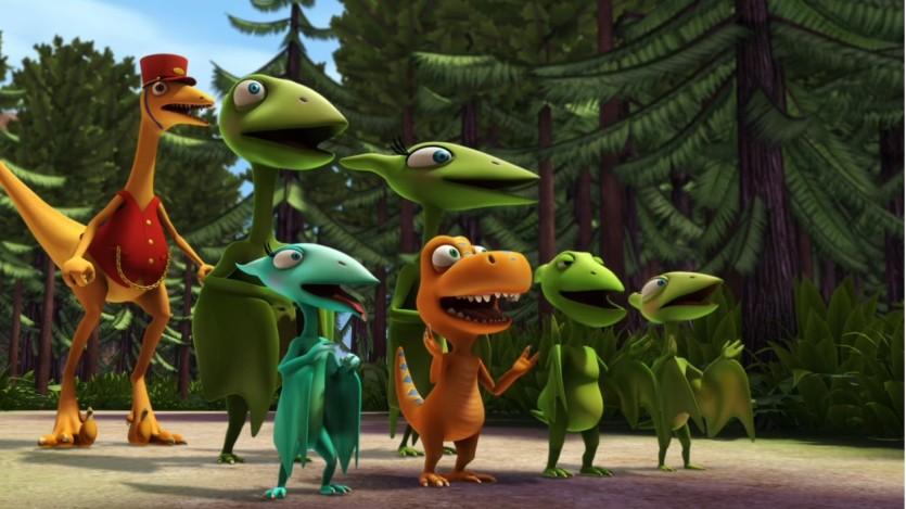 Il treno dei dinosauri cartoni animati