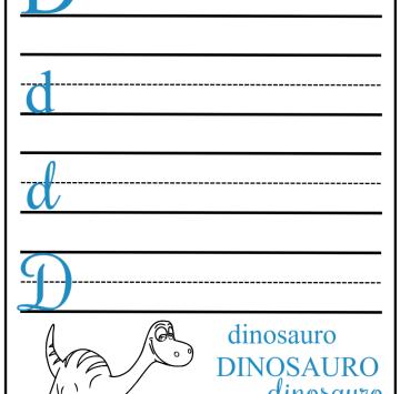 Lettera d stampatello corsivo stampato e maiuscolo con Arlo - Cartoni animati