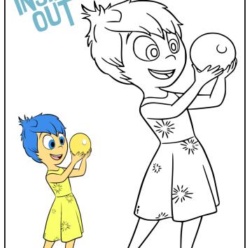 Gioia Inside Out da colorare - Cartoni animati