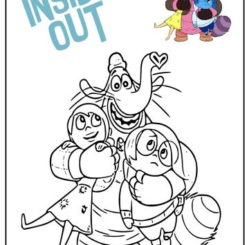 Personaggi Inside Out da stampare e colorare - Cartoni animati