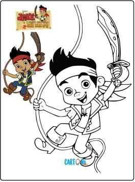 Disegni da colorare di Jake e i pirati dell'isola che non c'è
