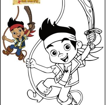 Disegni da colorare di Jake e i pirati dell'isola che non c'è - Cartoni animati