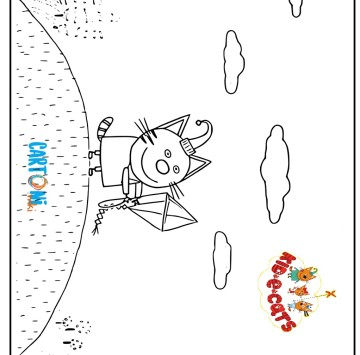 Colora Budino di Kid-E-Cats - Cartoni animati