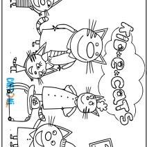 Kid e Cats disegni da stampare - Stampa e colora
