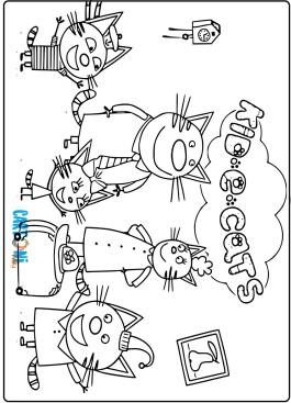 Kid e Cats disegni da stampare