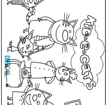 Kid e Cats disegni da stampare - Cartoni animati