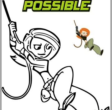 Kim Possible disegni da colorare - Cartoni animati