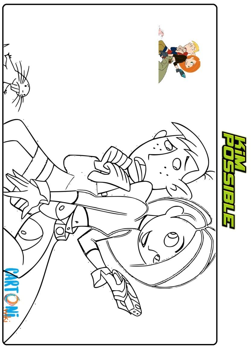 Kim Possibile disegno da stampare - Cartoni animati