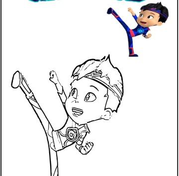 Kody Kapow disegni da colorare - Cartoni animati