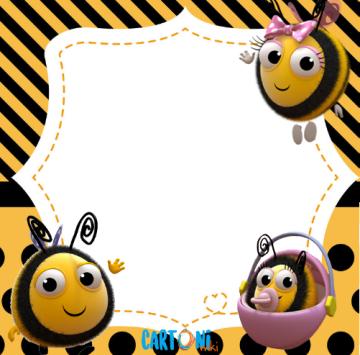 La casa delle api invito festa - Cartoni animati