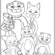 La famiglia Volpitassi da colorare - Disegni da colorare