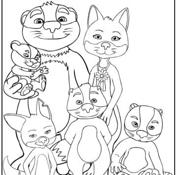 La famiglia Volpitassi da colorare - Cartoni animati