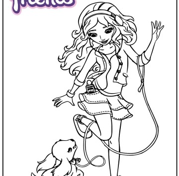 Lego Friends coloring pages - Cartoni animati