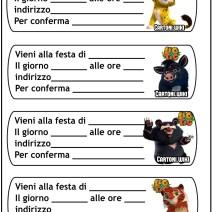 Inviti formato assegno Leo e Tig - Inviti compleanno bambini