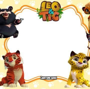 Leo e Tig invito festa compleanno - Cartoni animati