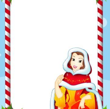 Stampa lettera a Babbo Natale con Belle - Cartoni animati