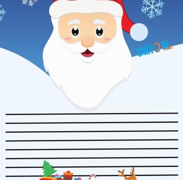 Lettera Babbo Natale per bambini - Cartoni animati