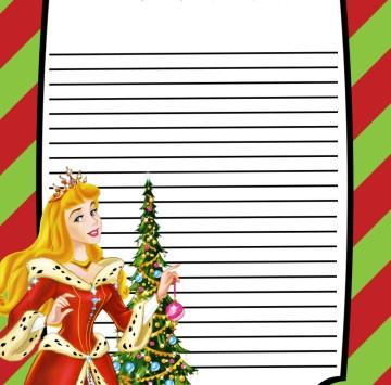Foglio per lettera a Babbo Natale - Cartoni animati