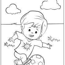 Eddie che gioca a pallone disegno da colorare - Disegni da colorare