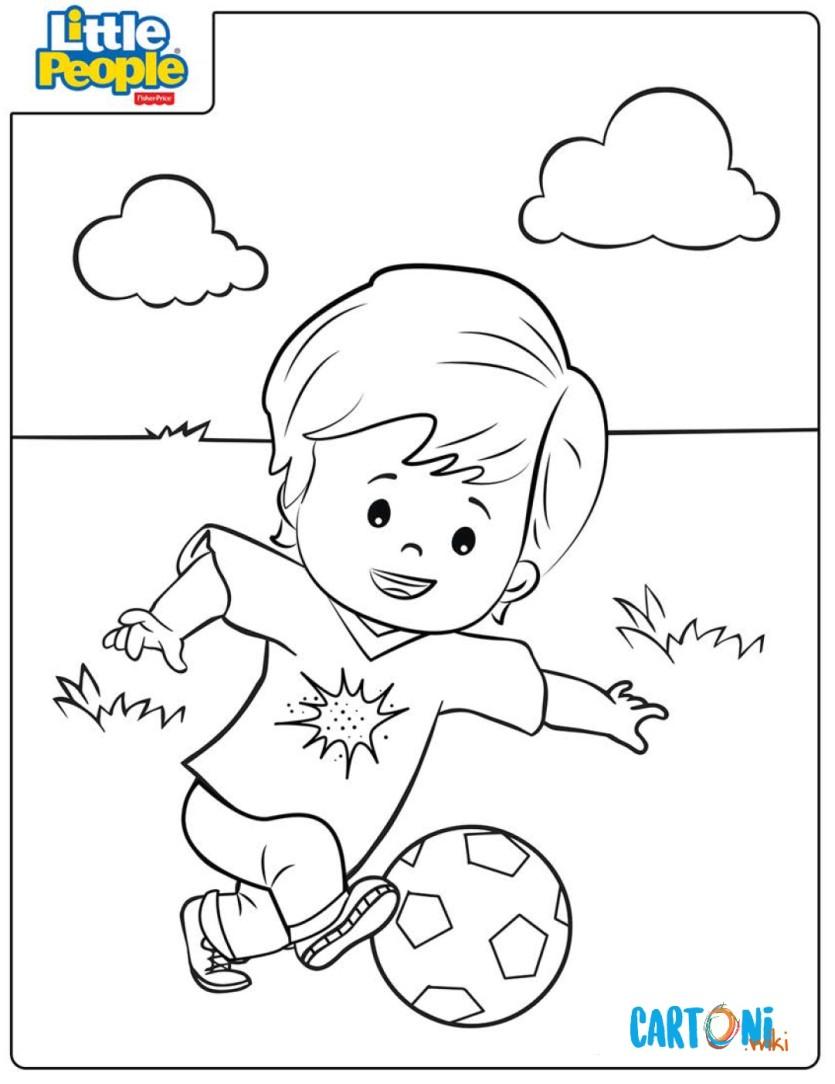 Disegno Pallone Da Colorare.Eddie Che Gioca A Pallone Disegno Da Colorare Cartoni Animati