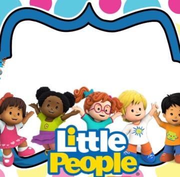 Invito festa compleanno Little People - Cartoni animati