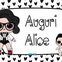 Lol surprise Black Tie Auguri Alice - Auguri Alice