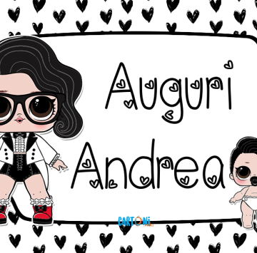 Lol surprise Black Tie Auguri Andrea - Cartoni animati